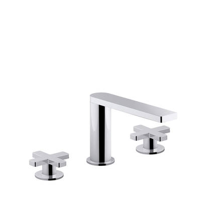 Composed 3TH Basin Set with Cross Handles Polished Chrome