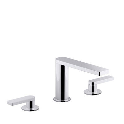 Composed 3TH Basin Set with Lever Handles Polished Chrome