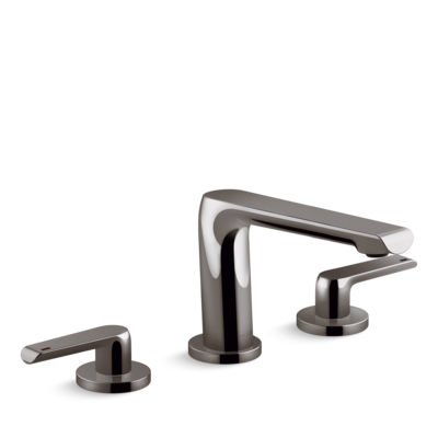 Avid 3 Tap Hole Basin Set Titanium