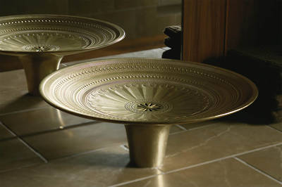 Kamala Vessel Cast Bronze Basin with Living Finish