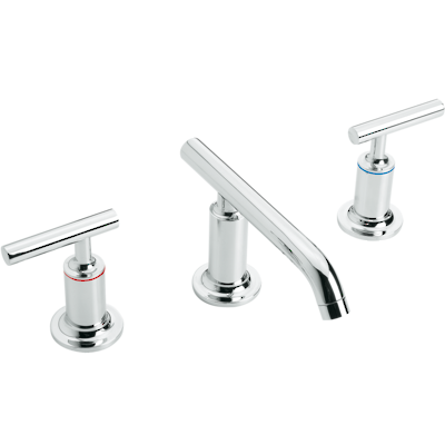Purist Low Spout Basin Set with Lever Handles