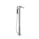 Avid Floor Mount Bath Filler with Handshower