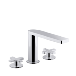 Composed 3TH Bath Set-Cross Handle Polished Chrome