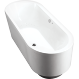 Evok Oval Freestanding BubbleMassage Bath