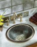 Serpentine Bronze on Intaglio Self Rimming Basin