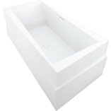 Askew Lithocast Rectangular Freestanding Bath