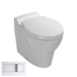 Ove Wall Faced Toilet with bevel flush button