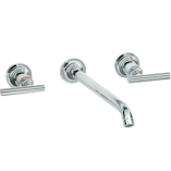 Purist Wall Mount Basin Set with 210mm Spout and Lever Handles